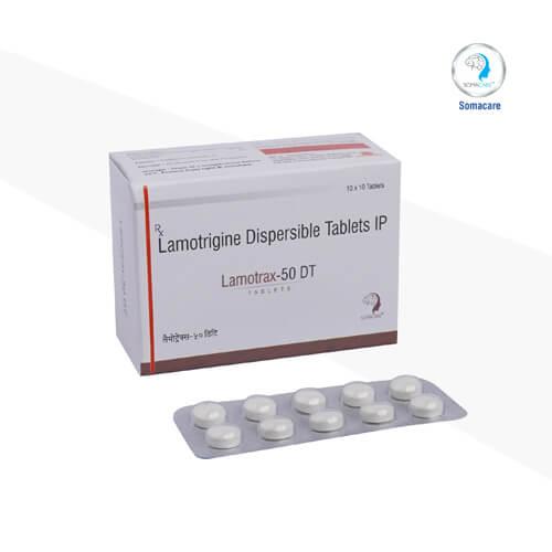 lamotrax-50 dt-Lamotrigene 50mg Dispersible Tablets