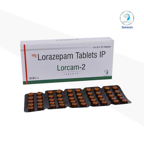 lorcam-2-Lorazepam 2mg