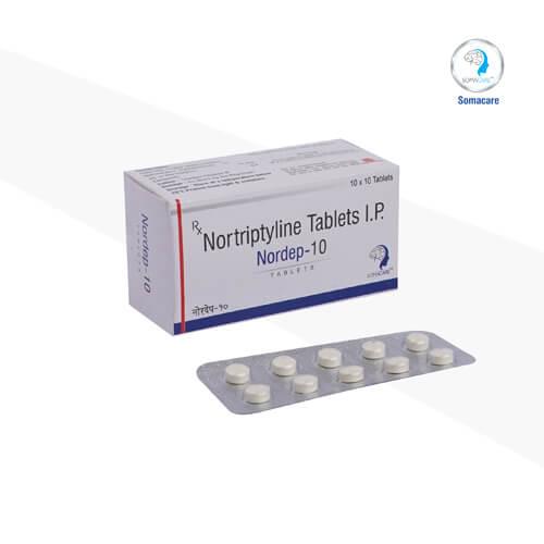 nordep-10-Nortriptiline 10mg Tablets